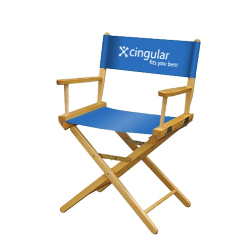 "Directors Chair 18"" w/Perma Logo on chair back one color"