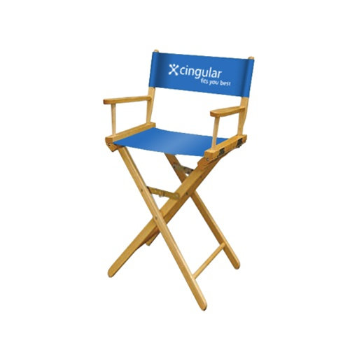"Directors Chair 30"" w/Perma Logo on chair back one color"