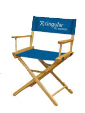 "Directors Chair 18"" w/Dye Sublimation print on back only"