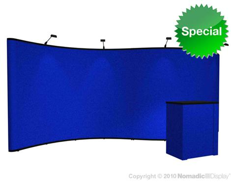Scorpion 20 Fabric Display with lights and counter