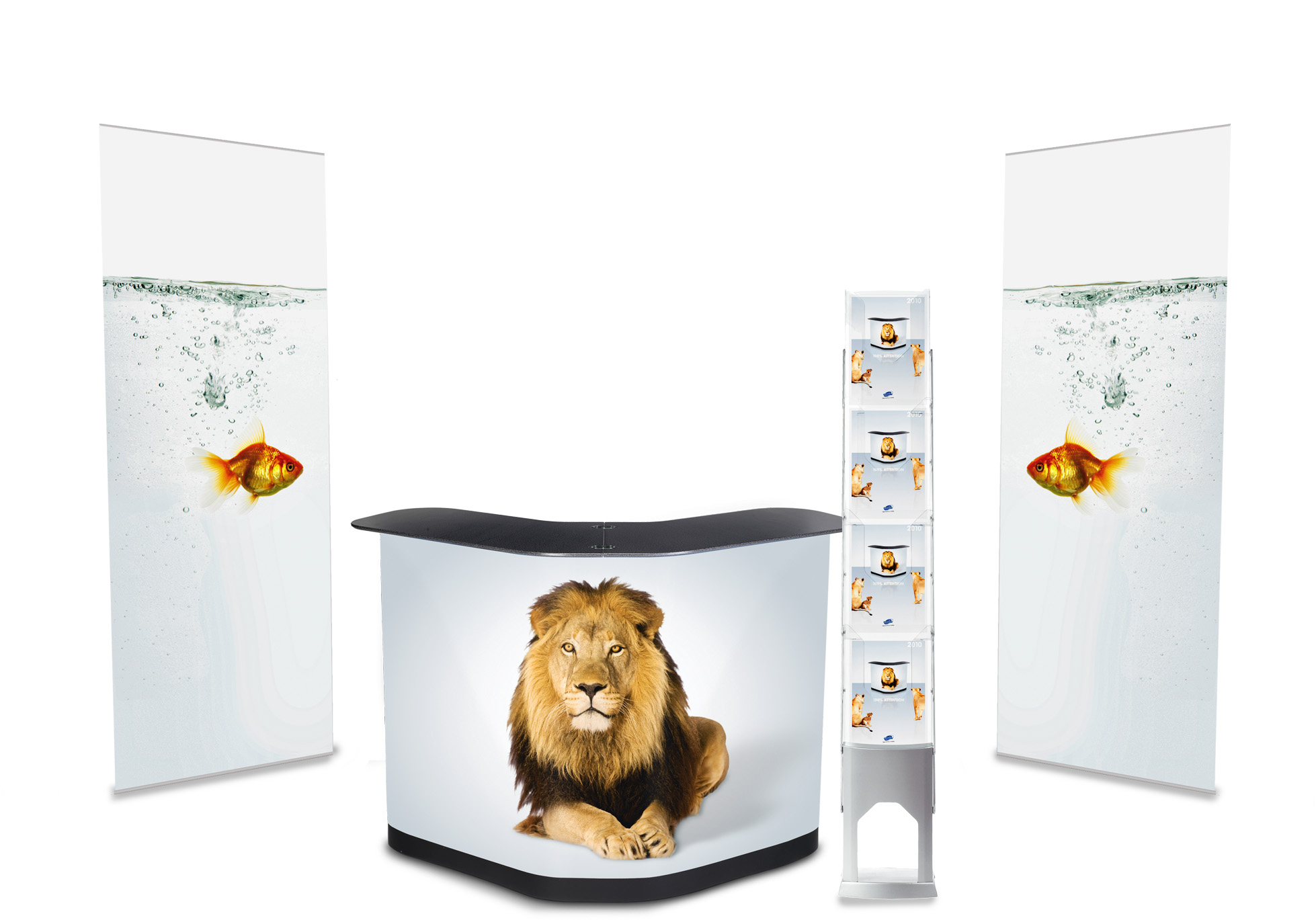 Expolinc Banner Stand Kit W/Literature Rack
