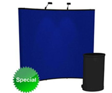 Mercury 8x8 fabric display w/lights and counter