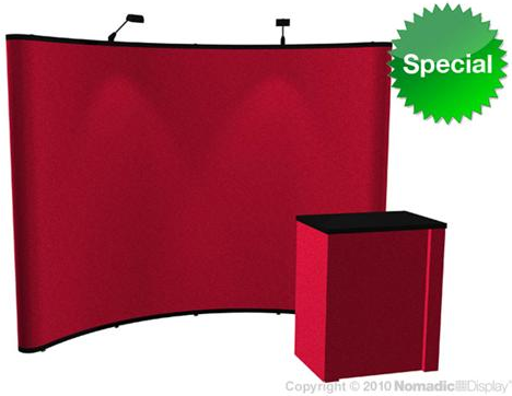 Neptune 8x10 fabric display w/lights and counter