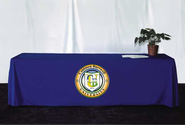 8 Table Skirt w/ Applique Logo