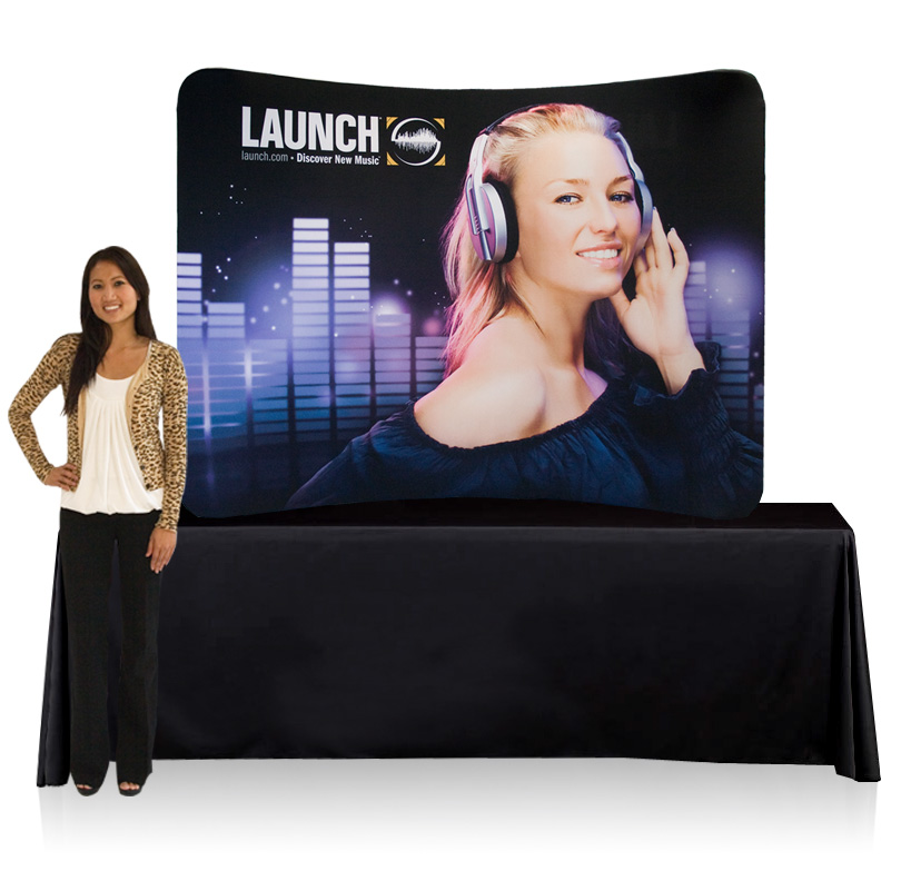 EZ Tube Display 8ft Curved Table Top