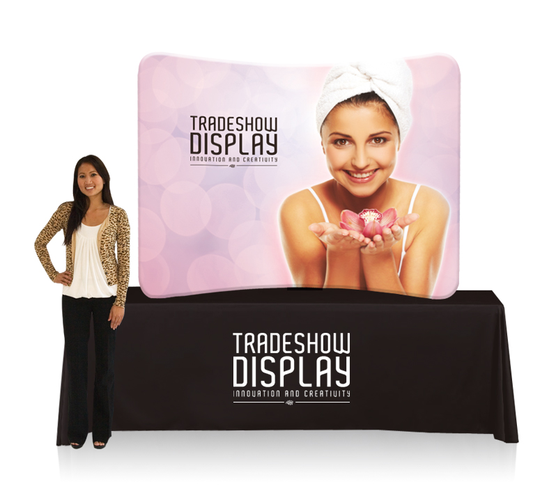 EZ Tube Display 6ft Curved Table Top