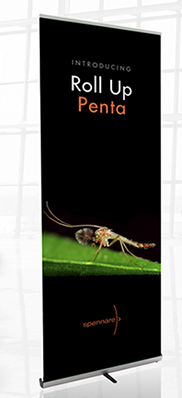 "Penta Roll-up Banner Stand 33.5""w"