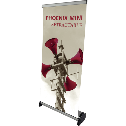 PHOENIX MINI RETRACTABLE TABLE TOP BANNER STAND
