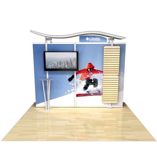 10ft Timberline Modular Display w/monotor mount & slatwall