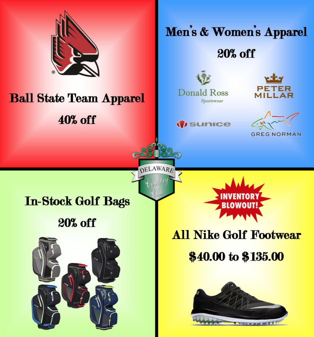 Check out our Fall Golf Shop Specials!
