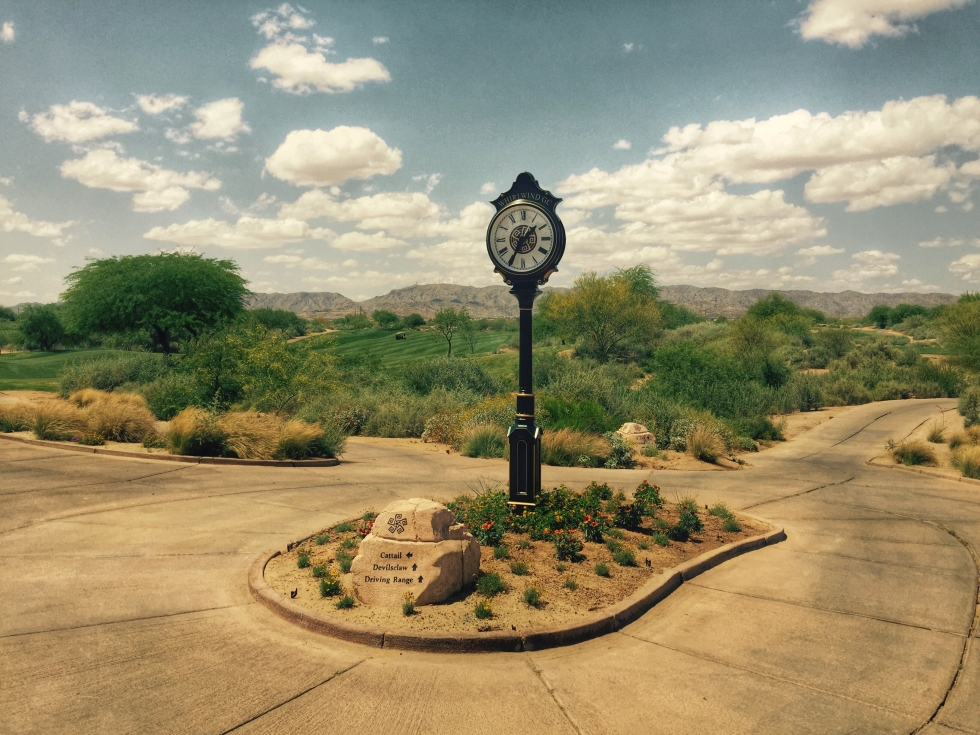 Verdin Clock at Whirlwind Golf Club