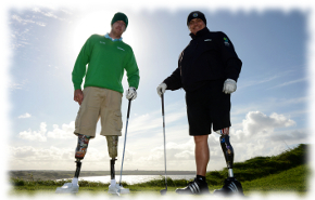 Severely Injured Combat Veterans Golfing