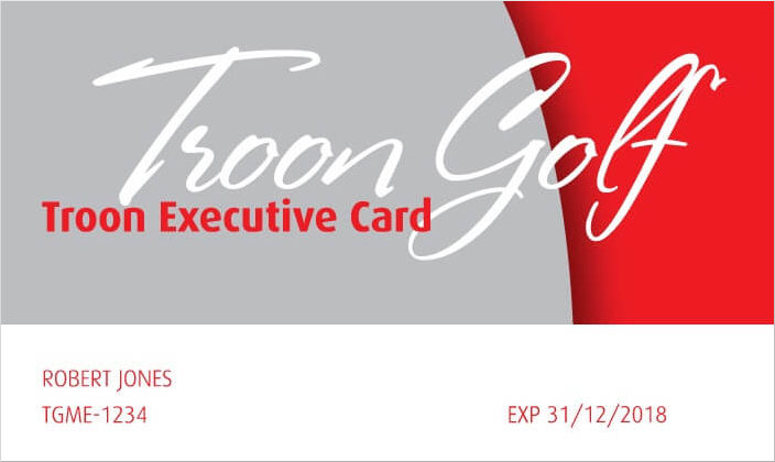 2018 Troon Executive Card