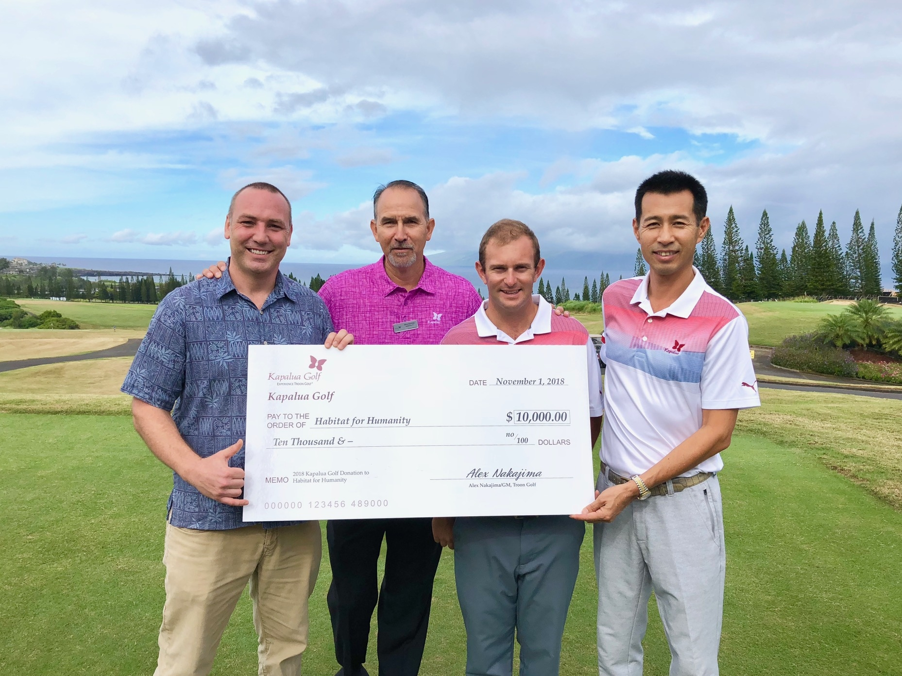 Kapalua Golf Donates $10,000 To Habitat For Humanity In Support Of West Maui Relief Efforts