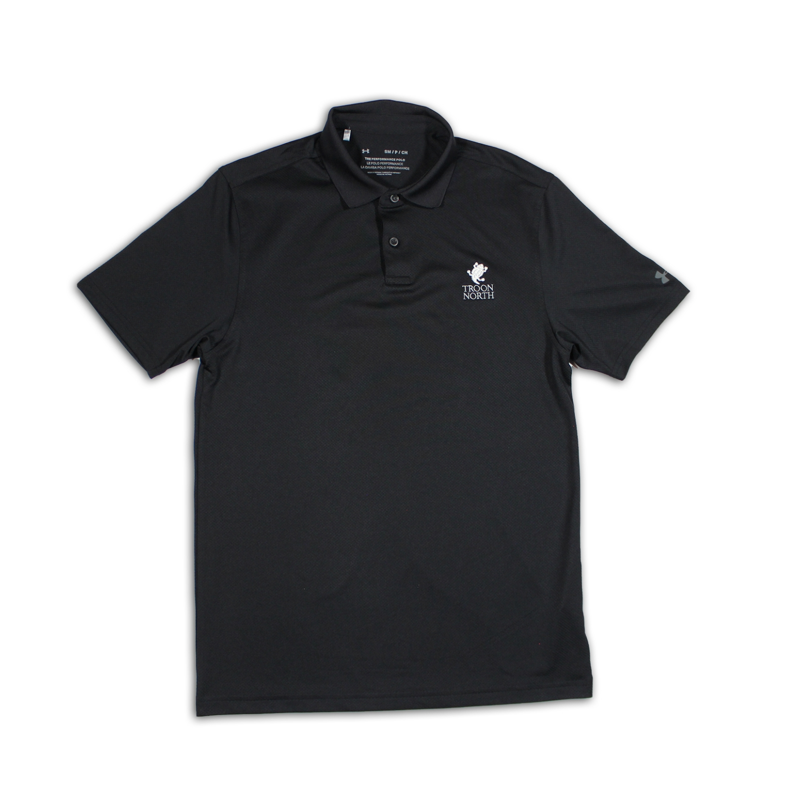 Under Armour Solid Black Polo