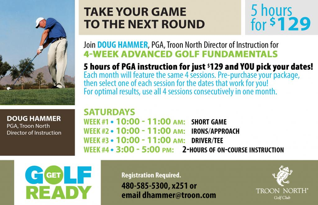 4 Week Golf Package - 5 Hours of Instruction