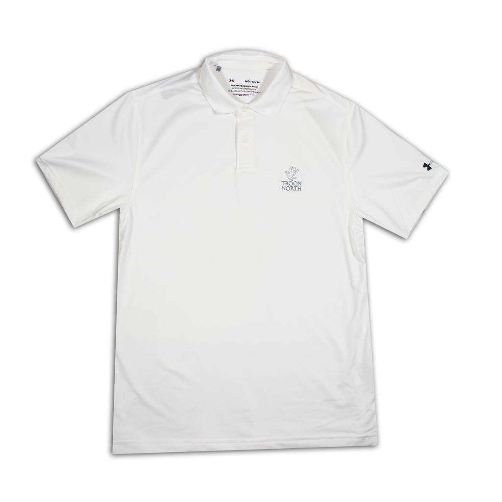 Under Armour Solid White Polo