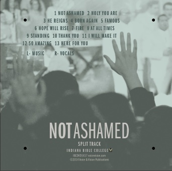 Not Ashamed Lite Accompaniment Tracks