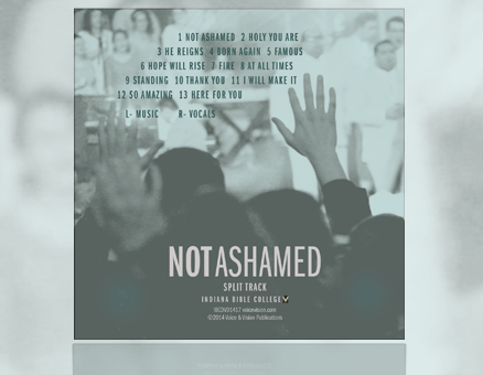 Not Ashamed - Lite Accompaniment Track