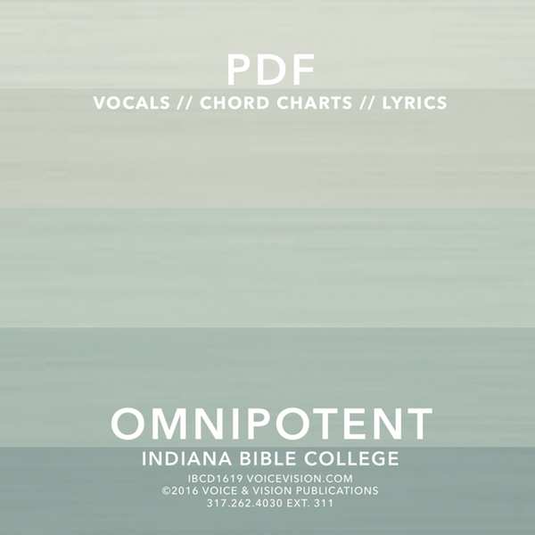Omnipotent Chord & Lyric Chart Downloads